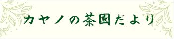 ブログ カヤノの茶園だより